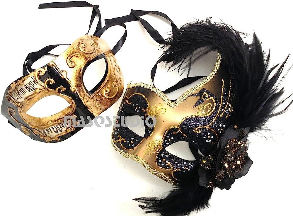 Masquerade Ball Mask Halloween Costume Mask His /& Hers Couples Phantom Masquerade Mask Set Royal Blue Metal Masquerade Masks for Couples