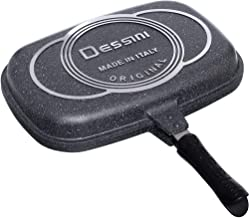 Double Grill Non-stick Dessini Two-Sided Pan 36 cm, Grey