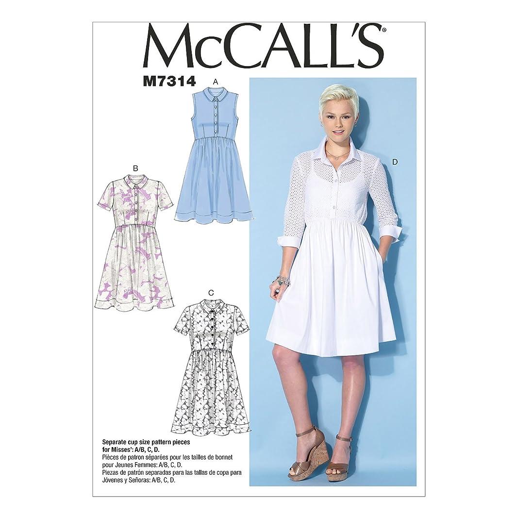 McCall's Patterns M7314 Misses' Shirtdresses, Size E5 (14-16-18-20-22) b891239805
