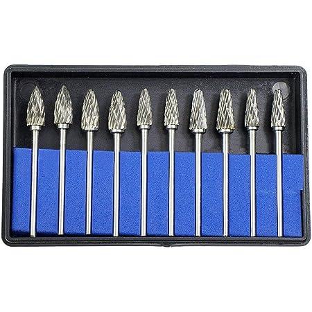 10PCS Tungsten Carbide Steel Sanding Head Rotary Grinding Drill Bit Tool
