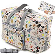 Foldable Travel Duffle Bag for Women Girls Large Cute Floral Weekender Overnight Carry On Bag for...