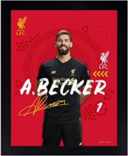 Liverpool FC Red Soccer LFC 8 x 10 Alisson Frame 19/20 Official