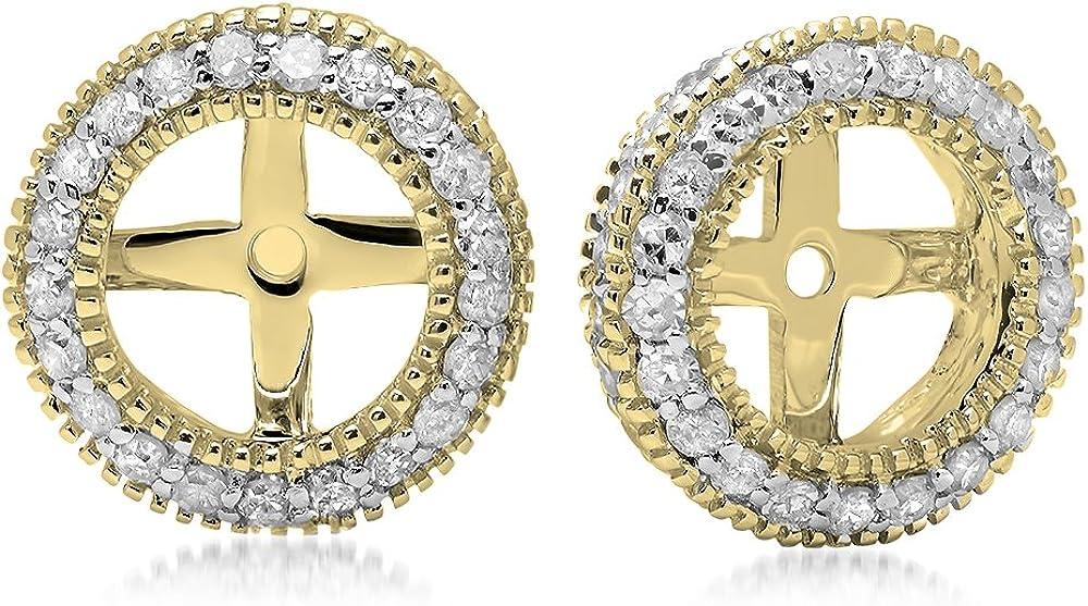 Dazzlingrock Collection 0.55 Carat ctw Gold Cut Diam Round 14K Dealing full price reduction low-pricing
