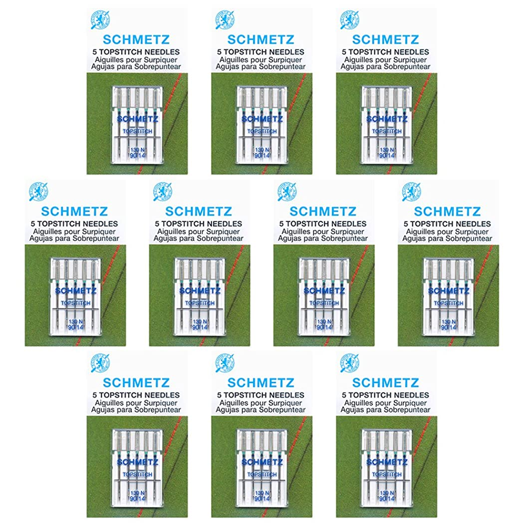 50 Schmetz Topstitch Sewing Machine Needles - size?90/14 - Box of 10 cards