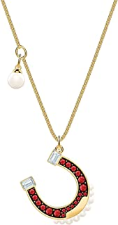 SWAROVSKI Crystal Lucky Goddess Horseshoe Necklace