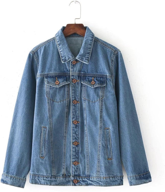 JudyBridal Womens Cotton Floral Embroidery Outwear bluee Denim Coat Jacket