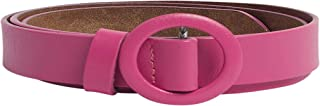 Solid Round Buckle Slim Belt For Women Closet by Styli