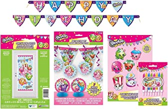 Shopkins Ultimate Birthday Party Decorating Bundle ~ Banners, Candles, Door Poster and More! …