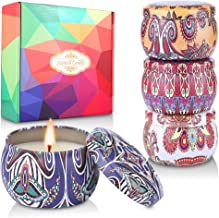 (4*4,4 OZ) Regalo de Velas Perfumadas,AMAYGA Velas Aromaticas,Cera de Soja Natural,Aromaterapia Decoración para Relajación Fiesta Boda Baño Yoga Navidad Día de San Valentín Regalos