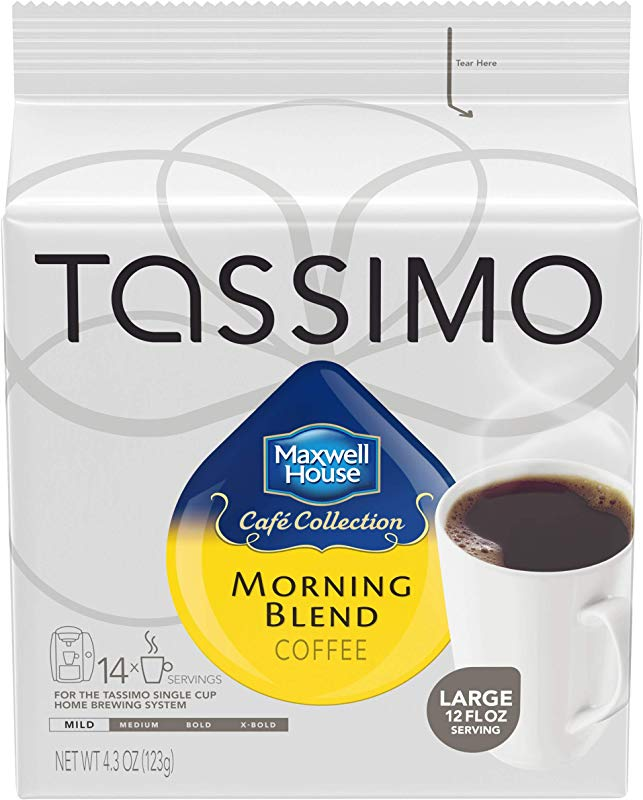 Tassimo Maxwell House Morning Blend Coffee T Discs 70 Count 5 Packs Of 14