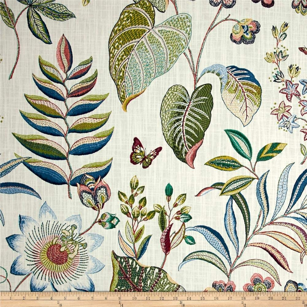 P Kaufmann Butterfly Trail Cotton Duck the Opening large 100% quality warranty! release sale Orchid by Yar Fabric
