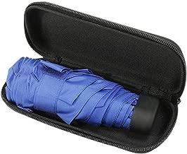 Mini Folded Pocket Umbrella Small Super Light Five Fold Umbrella Bag Umbrellas Windproof Folding Rain Umbrellas For Woman Kids,Blue