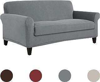 Serta Cobertor elástico para sofá, Textura cuadriculada, 1