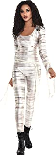 Party City Mummy Catsuit Halloween Costume for Women, White, Standard