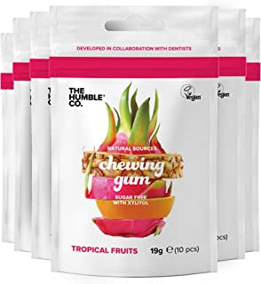 The Humble Co. Natural Chewing Gum (6 Pk) – Keto friendly, Vegan and Sugar Free Gum, Aspartame Free Xylitol Gum, Non GMO G...