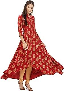 Women Dress Kurti Bollywood Designer Printed Anarkali Suit Kurta Ready to Wear