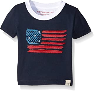 Burt's Bees Baby Baby Boys' T-Shirt, Short Sleeve V-Neck and Crewneck Tees, 100% Organic Cotton