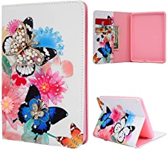 Kindle Paperwhite 10th Generation 2018 Leather Case, PU Leather Flip Wallet Case Fold Slim Fit Leather Cover Case with Kickstand Stand, Card Slots -Butterflies