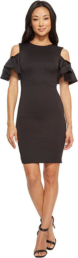 Salnie Extreme Cut Out Shoulder Dress