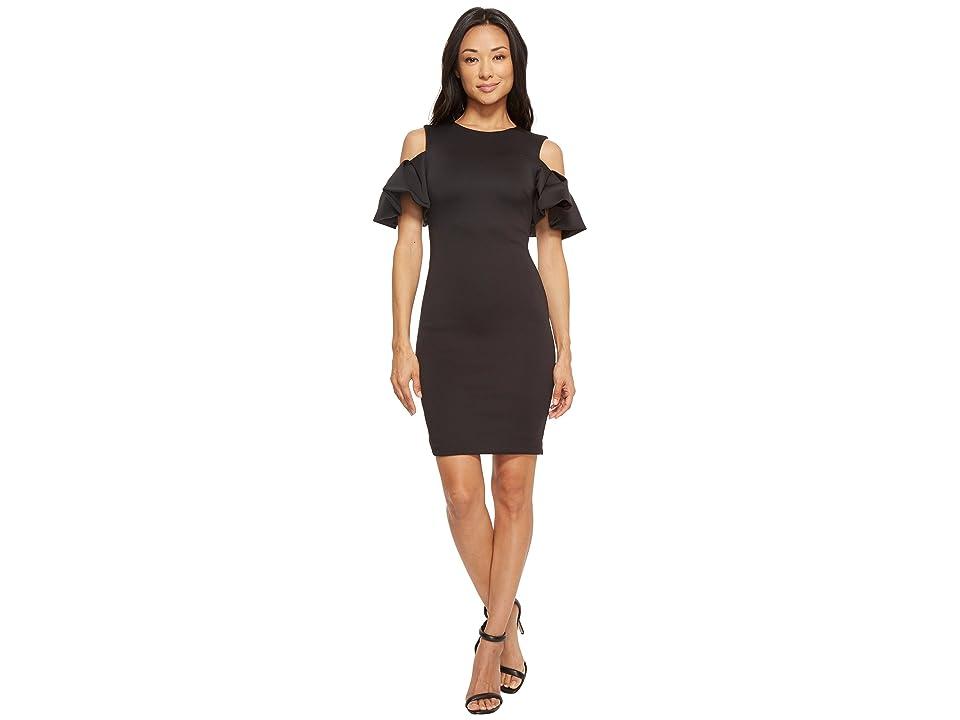 Ted Baker Salnie Extreme Cut Out Shoulder Dress (Black) Women