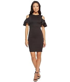 Salnie Extreme Cut Out Shoulder Dress