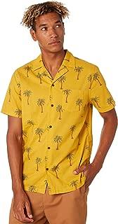 Banks Men's Palm Dreams Mens Ss Shirt Short Sleeve Cotton