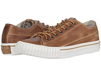 John Varvatos Vulcanized Handstained Low Top (Tan) Men