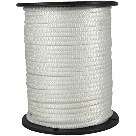 """Dacron Rope Low Stretch Strong 1//4/"""" x 150/' Solid Braid Jet Black Polyester"""