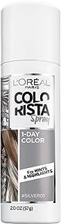 L'Oreal Paris Hair Color Colorista 1-Day Spray, Silver, 2 Ounce