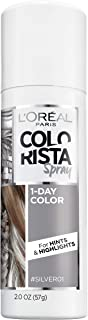 L'Oreal Paris Hair Color Colorista 1-Day Spray, Silver, 2 Ounce