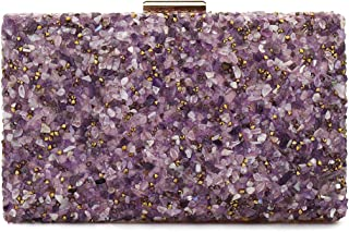 purple glitter handbag