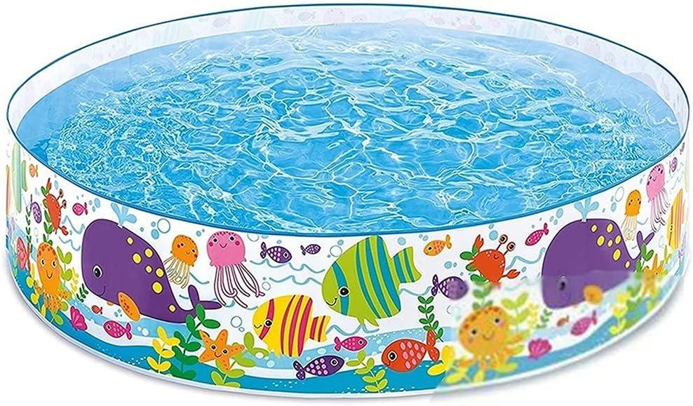 Bañeras con jacuzzi Piscina Piscina de Verano Cubierta y al Aire Libre Gran Piscina Infantil Se Puede Guardar y Plegar (Color : Blue, Size : 183 * 183 * 38cm)