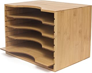 Lipper International 811 Bamboo File Organizer with Adjustable Dividers