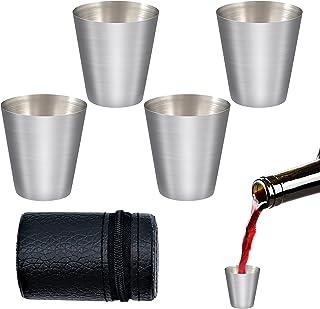 Bicchieri in Acciaio Inox, Bicchieri da Birra in Metallo, Pratico e Resistente, Aggiunge Praticità Alla Tua Vita di Piacere