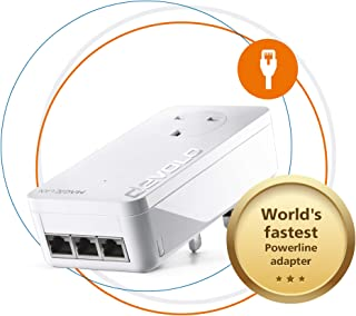 Devolo Magic 2-2400 LAN Triple: Stable Home Working, Add-on Powerline Adapter, Up to 2400 Mbps for Your Powerline Home Net...