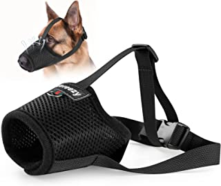 Dog Muzzle, Mesh Breathable Dog Muzzles for Biting Barking and Chewing, Adjustable Pets Muzzle for Small Medium Large Extr...