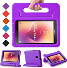 BMOUO Kids Case for Samsung Galaxy Tab A 8.0 2017 (SM-T385 / T380) - Light Weight Shockproof Protective Handle Stand Kids Case Cover for Samsung Galaxy Tab A 8.0 inch 2017 T380 T385 Tablet - Purple