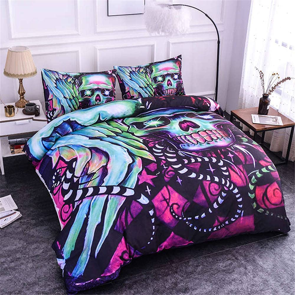 Psychedelic Skull Bedding Set Bohemian King Ranking TOP6 Si Cover Duvet supreme Queen