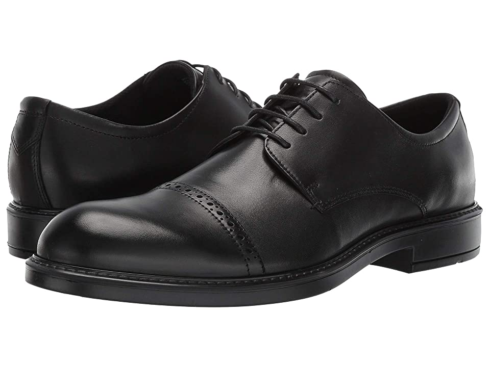 ECCO Vitrus III Cap Toe Tie (Black) Men's Shoes
