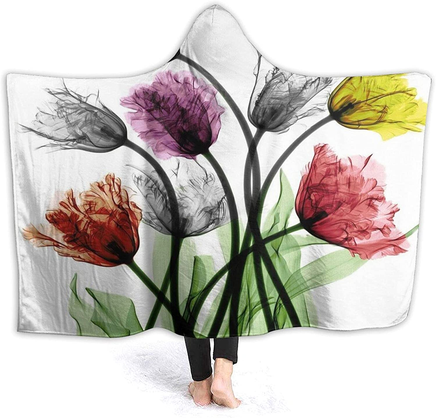 Hooded Blanket Colorful Fall store Adult Purchase Kids Flora for