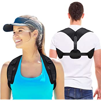 Posture Corrector for Men & Women - Upgraded Lengthened Brace Back Straightener - Comfortable Posture Trainer for Shoulder Support,Back & Neck Pain Relief