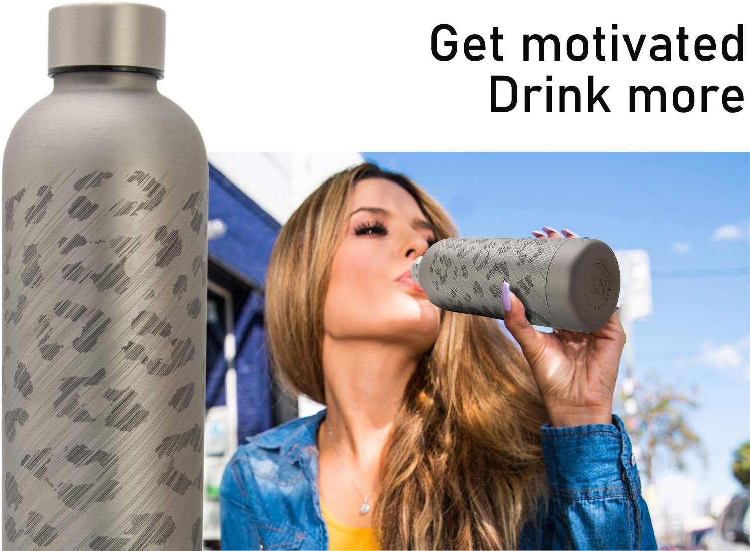 Flasche Sprudel-Wasser Thermoskanne unterwegs T/&N Edelstahl Trinkflasche 500ml auslaufsichere Wasserflasche f/ür Kohlens/äure Thermosflasche f/ür B/üro Isolierflasche Tee Kaffee