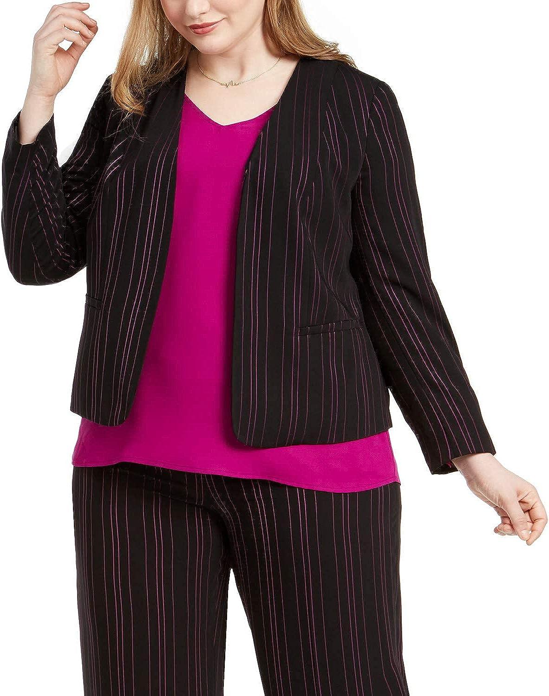 Bar III Womens Plus Open Front Office Jacket