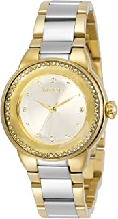 Invicta Women's Angel Quartz Watch with Stainless Steel Strap, Two Tone, 18 (Model: 29793)
