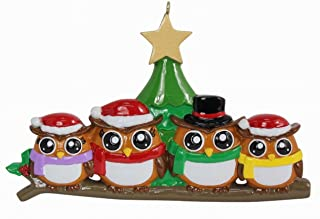 WorldWide Personalized Ornament Owl Family of 4