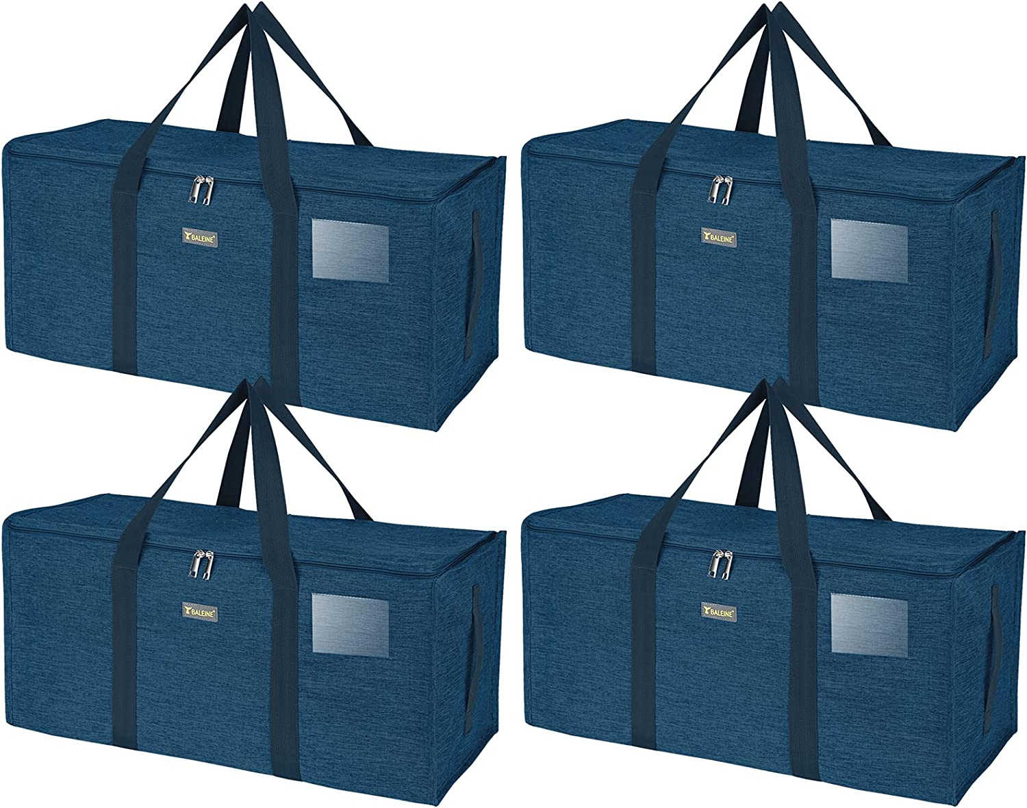 BALEINE Extra Inexpensive Large half Storage Tote Handles with Zippers Carrying