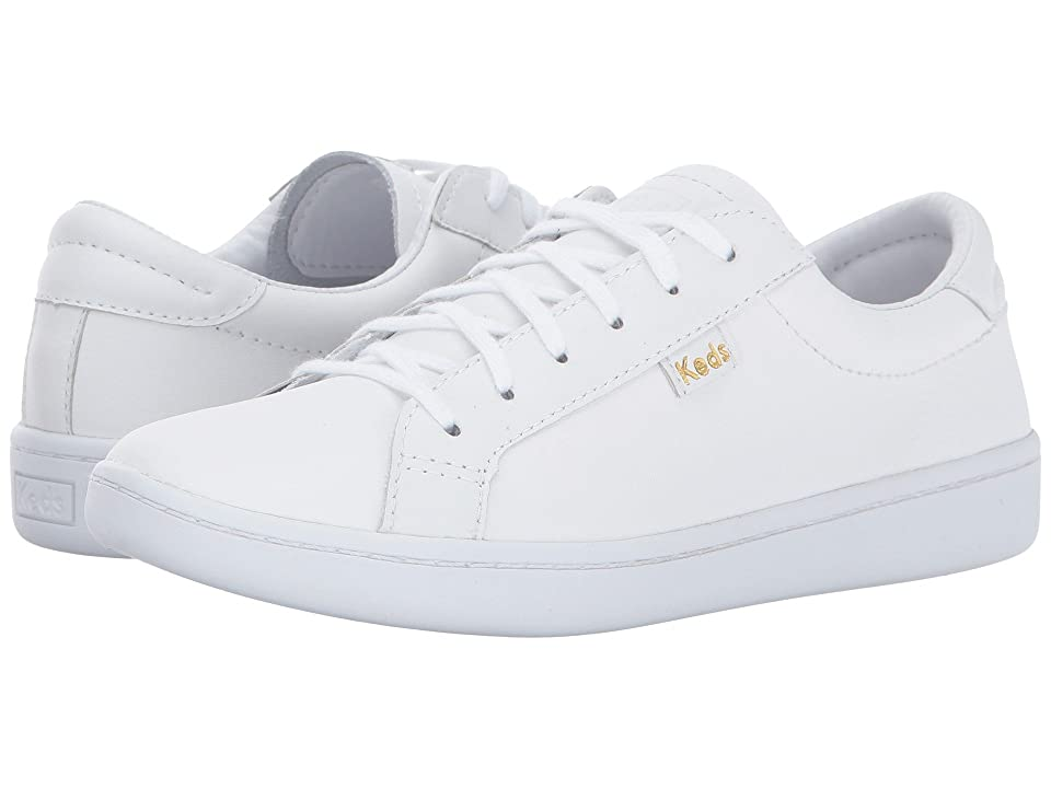 Keds Kids Ace (Little Kid/Big Kid) (White Leather) Girl