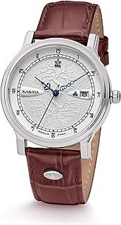 Kronsegler Karma - Reloj automático de acero plateado y marrón