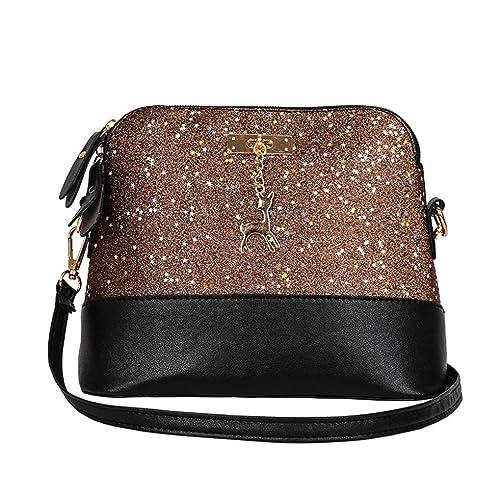 ad4c9acc8b0 WILLTOO Womens Sequins Bag Fashion Handbag Purse Crossbody Shoulder  Messenger Bag Deer