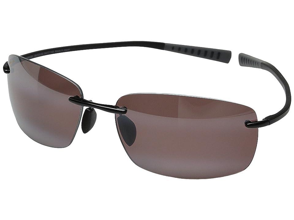 Maui Jim Kumu (Gloss Black/Maui Rose) Polarized Fashion Sunglasses